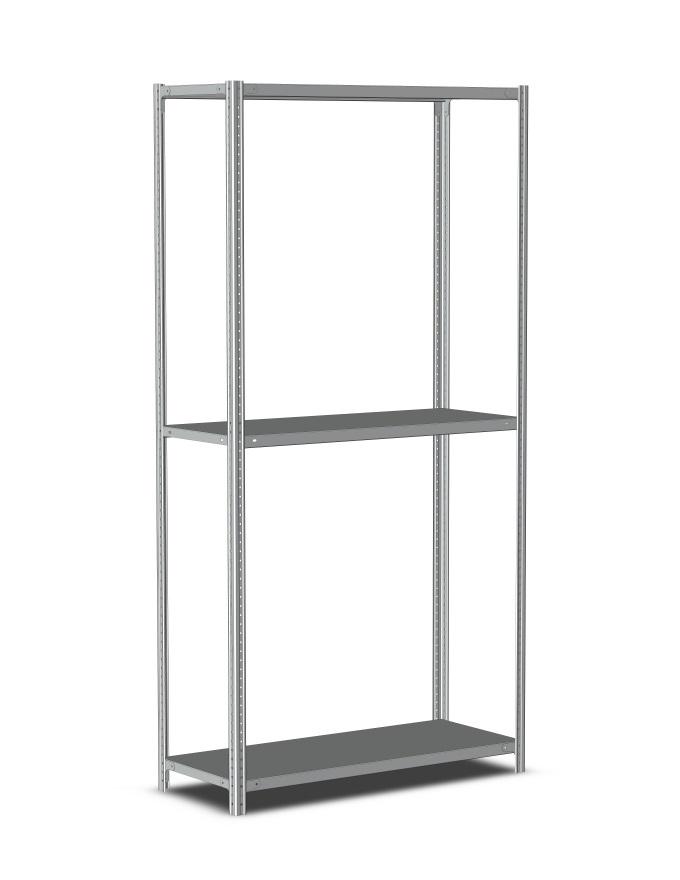 Стеллаж металлический полочный 2500х1500х600, 3 полки, светло-серый купить в Метбиз цена, характеристики, фото