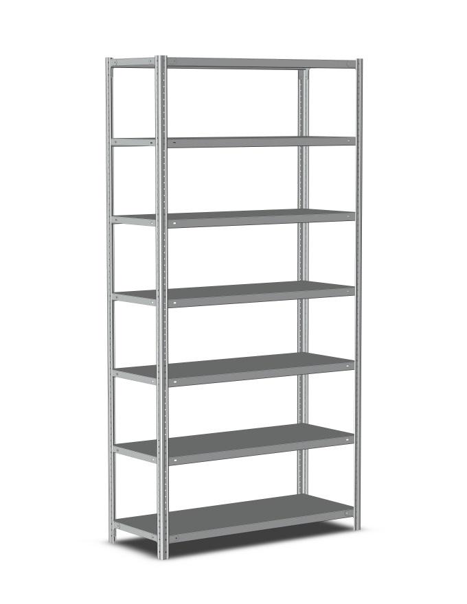 Стеллаж металлический полочный 2000х1000х800, 7 полок, светло-серый купить в Метбиз цена, характеристики, фото