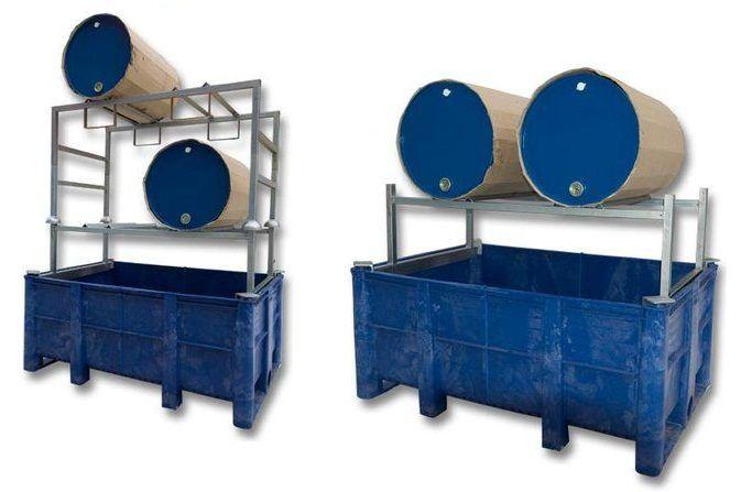 Стеллаж-контейнер для локализации разливов технических жидкостей